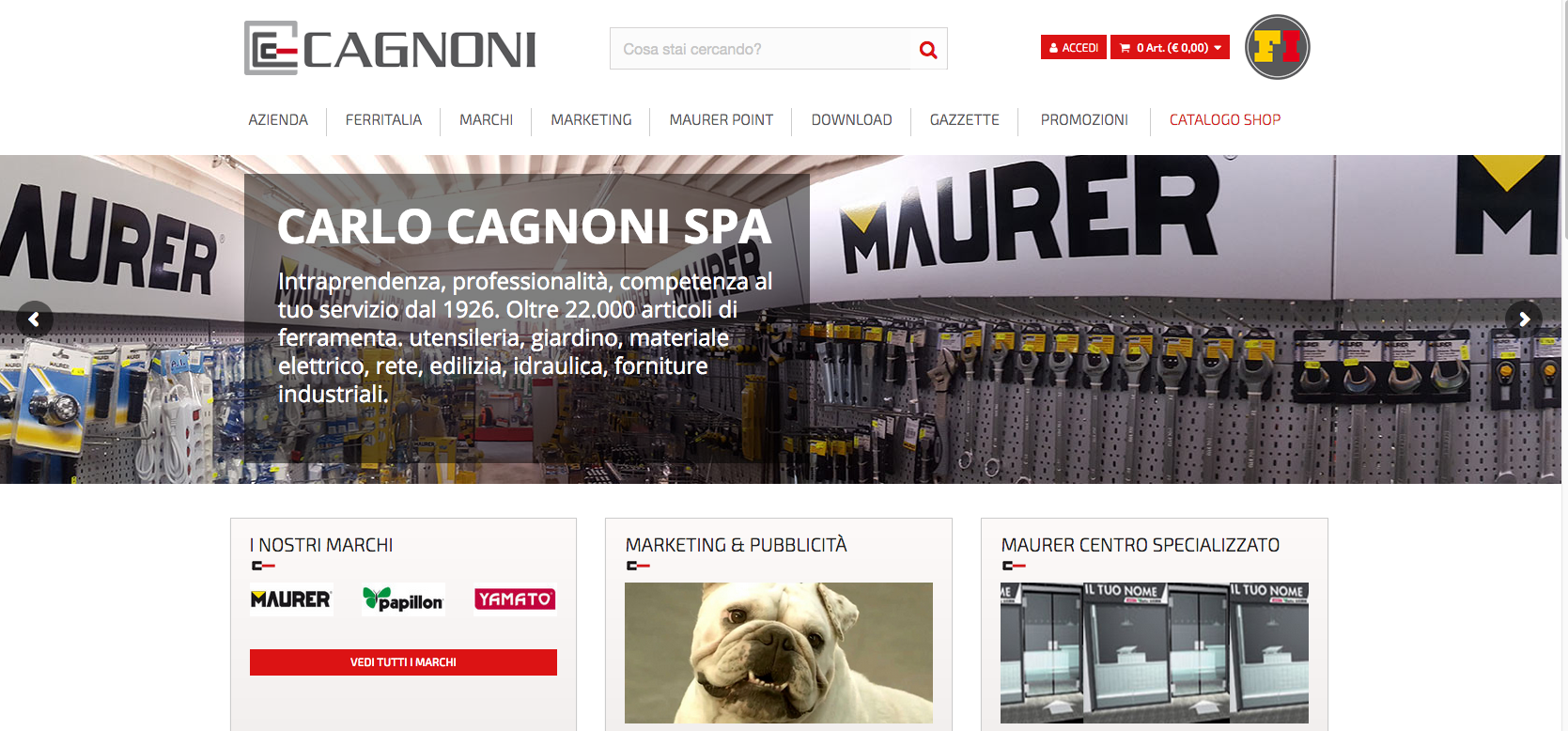 Cagnoni.it - Ecommerce per la rivendita di ferramenta